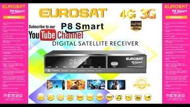 Photo of EUROSAT P8 SMART HD RECEIVER POWERVU KEY FIRMWARE NEW UPDATE