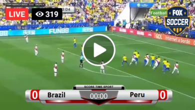 Photo of Brazil vs Peru Live Soccer 17-06-2021