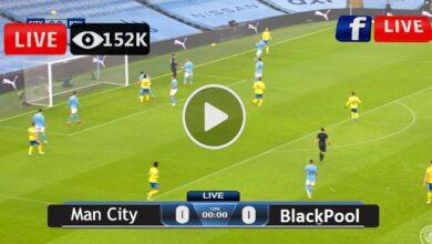 Photo of Manchester City vs Blackpool Live Football Score 03-08-2021