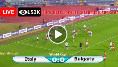 Photo of Italy vs Bulgaria World Cup LIVE Football Score 02/09/2021
